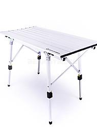 Недорогие -BEAR SYMBOL Туристический стол На открытом воздухе Противозаносный, Складной Алюминий для Рыбалка / Походы Серебряный