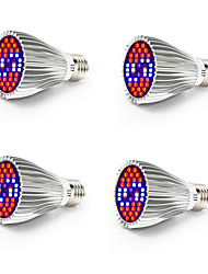 cheap -4pcs 800-1200 lm E26 / E27 Growing Light Bulb 40 LED Beads SMD 5730 Full Spectrum / Decorative White / Red / Blue 85-265 V / RoHS / FCC