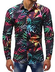 Недорогие -Муж. С принтом Рубашка Классический Контрастных цветов