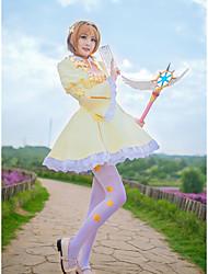 cheap -Inspired by Cardcaptor Sakura Kinomoto Sakura Anime Cosplay Costumes Cosplay Suits Stars Cravat / Skirts / Socks For Women's Halloween Costumes / Chiffon