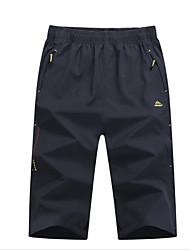 baratos -Homens Shorts de Trilha Ao ar livre Secagem Rápida Calças Exercicio Exterior