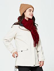 cheap -Women's Hiking Fleece Jacket Hiking Windbreaker outdoor Autumn / Fall Winter Windproof Rain-Proof Anatomic Design POLY 3-in-1 Jacket Single Slider Ski / Snowboard Hiking Traveling