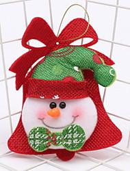abordables -ornamentos de Navidad Vacaciones Tejido de Algodón Cuadrado Novedades Decoración navideña