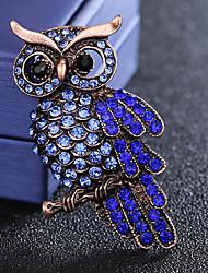 baratos -Homens Safira / Zircônia Cubica Estilo vintage / Fashion Broches - Imitações de Diamante Pássaro Luxo, Fashion, Formais Broche Azul Para Diário / Feriado