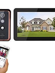 cheap -MOUNTAINONE 9 inch Wired Wifi Video Door Phone Doorbell Intercom Entry System with 1000TVL Wired IR-CUT Camera Night VisionSupport Remote APP