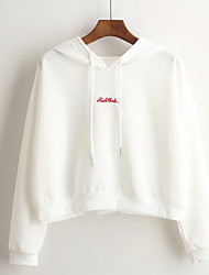 cheap -Women's Basic Hoodie - Solid Colored / Letter