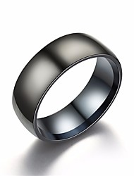 cheap -Men's Classic Ring - Titanium Steel Letter Simple, Basic, Casual / Sporty 6 / 7 / 8 Black For Street / Club