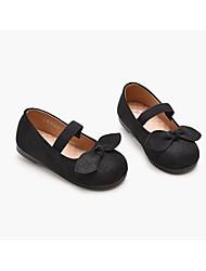 Недорогие -Девочки Обувь Замша Лето Детская праздничная обувь На плокой подошве Бант / На липучках для Дети Черный / Винный