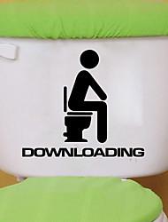 Недорогие -Наклейки для туалета - Наклейки для животных Животные Гостиная / Спальня / Ванная комната
