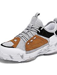 Недорогие -Муж. Замша Наступила зима Удобная обувь Спортивная обувь Беговая обувь Контрастных цветов Серый / Коричневый / Красный