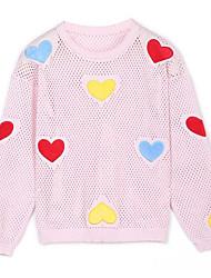 cheap -Kids Girls' Color Block Long Sleeve Sweater & Cardigan