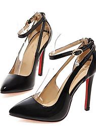 baratos -Mulheres Sapatos Couro Envernizado Primavera Conforto Saltos Salto Agulha Preto / Vermelho / Rosa claro
