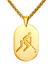 cheap -Men's Stylish Pendant Necklace - Stainless Steel Creative Trendy, Fashion Gold, Silver 55 cm Necklace 1pc For Gift, Daily