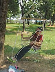baratos -Rede de Acampamento Ao ar livre Corda de cânhamo para Campismo / Escola / Viagem - 1 Pessoa Verde