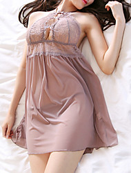 cheap -Women's Babydoll & Slips / Chemises & Gowns Nightwear - Cut Out, Embroidered