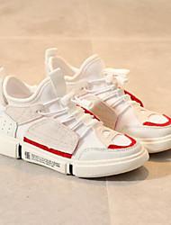 abordables -Garçon Chaussures Maille Eté Confort Basket Lacet pour Enfants Blanc / Marron / Bleu