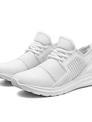 abordables -Homme Chaussures de confort Tricot / Maille Eté Sportif / Décontracté Chaussures d'Athlétisme Course à Pied / Marche Respirable Noir / Rouge / Vert foncé