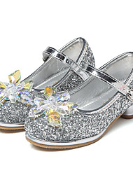 cheap -Girls' Shoes Synthetics Spring &  Fall Flower Girl Shoes / Tiny Heels for Teens Heels Crystal for Kids Silver / Pink / Light Blue / Wedding / Party & Evening