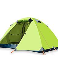 Недорогие -BSwolf 2 человека Туристические палатки На открытом воздухе С защитой от ветра Дожденепроницаемый Воздухопроницаемость Двухслойные зонты Карниза Палатка >3000 mm для