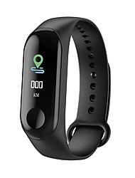 cheap Valentine's Day Sale-M3 Smart Sports Bracelet Fitness Tracker with Heart Rate Monitor Bluetooth Waterproof Pedometer for Android iOS