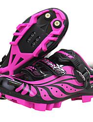 Недорогие -SIDEBIKE Обувь для горного велосипеда Углеволокно Противозаносный, Дышащий Велоспорт Фиолетовый Жен.