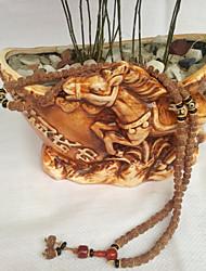 cheap -Women's Jade Classic / Beads Strand Bracelet / Wrap Bracelet - Buddha, Flower Shape Asian, Classic, Folk Style Bracelet Brown For Formal / Festival