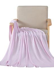 Недорогие -Супер мягкий, Активный краситель В точечку Бамбук / хлопок одеяла