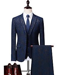 cheap -Men's Suits-Floral Peaked Lapel / Long Sleeve