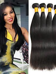 Недорогие -4 Связки Индийские волосы / Вьетнамские волосы Прямой Необработанные / Натуральные волосы Косплей Костюмы / Человека ткет Волосы / Сувениры для чаепития 8-28 дюймовый Ткет человеческих волос