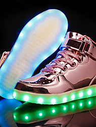 abordables -Fille Chaussures Polyuréthane Automne hiver Confort / Chaussures Lumineuses Basket LED pour Or / Argent / Rose