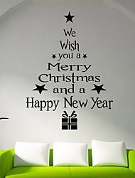 abordables -Film de fenêtre et autocollants Décoration Noël Vacances PVC Autocollant de Fenêtre / Boutique / Café