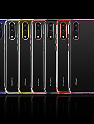 Недорогие -Кейс для Назначение Huawei P20 / P20 lite Покрытие / Прозрачный Кейс на заднюю панель Однотонный Мягкий ТПУ для Huawei P20 / Huawei P20 Pro / Huawei P20 lite / P10 Plus / P10 Lite / P10
