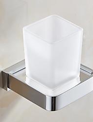 Недорогие -Держатель для зубных щеток Новый дизайн / Cool Современный стекло / Нержавеющая сталь / железо 1шт Зубная щетка и аксессуары На стену