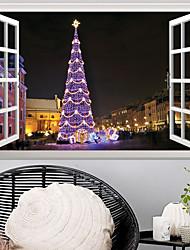 Недорогие -Декоративные наклейки на стены - 3D наклейки / Праздник стены стикеры Рождество / Цветочные мотивы / ботанический Детская