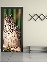 Недорогие -Дверные наклейки - 3D наклейки Животные / Натюрморт Гостиная / Спальня