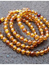 cheap -Women's Braided / Beads Strand Bracelet / Wrap Bracelet - Resin Buddha Classic, Vintage, Ethnic Bracelet Dark Yellow For Formal / Festival
