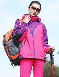 cheap -Women's Hiking 3-in-1 Jackets outdoor Autumn / Fall Winter Windproof Rain-Proof Anatomic Design 100% Polyester Flocking Winter Jacket Full Length Hidden Zipper Hunting and Fishing Camping / Hiking