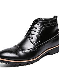 Недорогие -Муж. Официальная обувь Искусственная кожа Осень Ботинки Ботинки Черный / Коричневый / Свадьба / Для вечеринки / ужина
