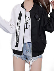 cheap -Women's Basic Jacket - Color Block