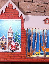 Недорогие -Орнаменты Праздник деревянный деревянный / Оригинальные Рождественские украшения