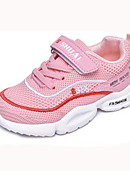 cheap -Girls' Shoes Mesh Fall & Winter Comfort Sneakers Walking Shoes Buckle for Kids Black / Blue / Pink