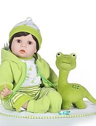 Недорогие -NPKCOLLECTION Куклы реборн Мальчики 24 дюймовый как живой, мерцать Детские Мальчики Подарок