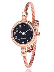 Недорогие -Жен. Часы-браслет Наручные часы Кварцевый Повседневные часы сплав Группа Аналоговый Мода минималист Черный / Серебристый металл / Золотистый - Серебристый / белый Золото / Белый Черный / Серебристый