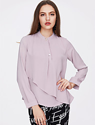 cheap -Women's Going out Slim Blouse - Solid Colored Crew Neck