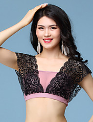 cheap -Belly Dance Tops Women's Performance Lace Lace / Split Joint Sleeveless Top