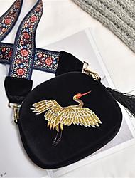 cheap -Women's Bags Faux Fur Shoulder Bag Zipper Blue / Black
