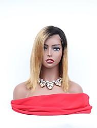 abordables -Cabello Remy Encaje Completo Wig Cabello Brasileño Recto Peluca Corte asimétrico 130% Mujer / Fácil vestidor / sexy lady Mujer 8-14 Pelucas de Cabello Natural