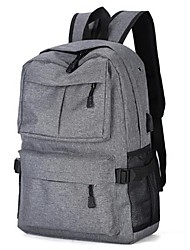 """Недорогие -15 """"Ноутбук Рюкзаки Джинса Однотонный для делового офиса для колледжей и школ для путешествия Водостойкий Противоударное покрытие с USB-портом для зарядки / наушниками"""