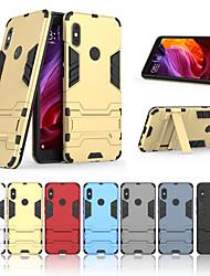 Недорогие -Кейс для Назначение Xiaomi Xiaomi Redmi Note 5 Pro / Xiaomi Redmi Примечание 5 / Xiaomi Mi 6X(Mi A2) со стендом Кейс на заднюю панель Однотонный Твердый ПК