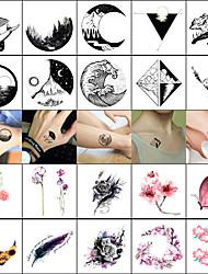 Недорогие -40 pcs Временные татуировки Гладкий стикер / Безопасность Лицо / Корпус / запястье Наклейка для переноса воды / Временные татуировки в стиле деколь